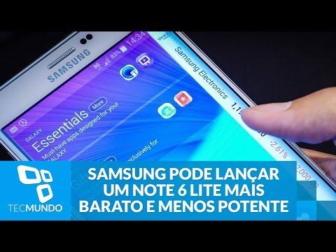 Samsung pode lançar um Galaxy Note 6 Lite mais barato e menos potente