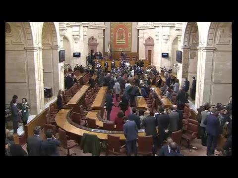 Pleno del parlamento de andaluc a youtube for Streaming parlamento