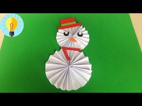 Basteln mit papier: Schneemann falten| DIY Bastelideen