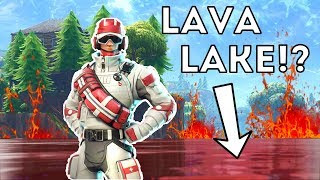 FORTNITE LAVA LAKE?! NEW UPDATE! PLAYING WITH MEMBERS!
