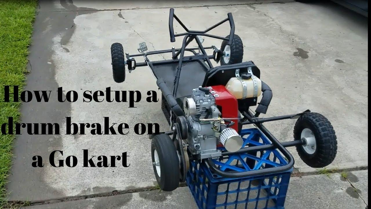 How to setup a drum brake on a Go kart