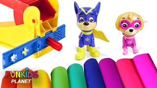 Learning Videos for Children: Paw Patrol Skye & Chase Super Pups Play With Play-doh Fun Factory