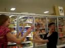 water gun fight in frozen foods?