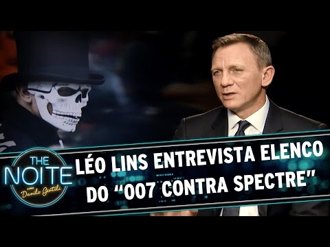 "The Noite (06/11/15) - Léo Lins Entrevista Elenco Do ""007 Contra Spectre"""