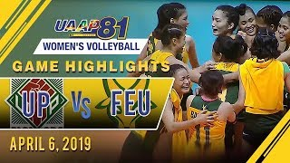 UAAP 81 WV: UP vs. FEU   Game Highlights   April 6, 2019