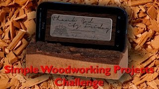 021 Tgif - Simple Woodworking Project - Smartphone Holder