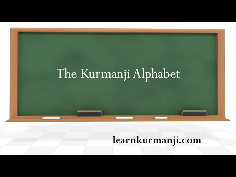 Learn Kurmanji Lesson 01 Alphabet