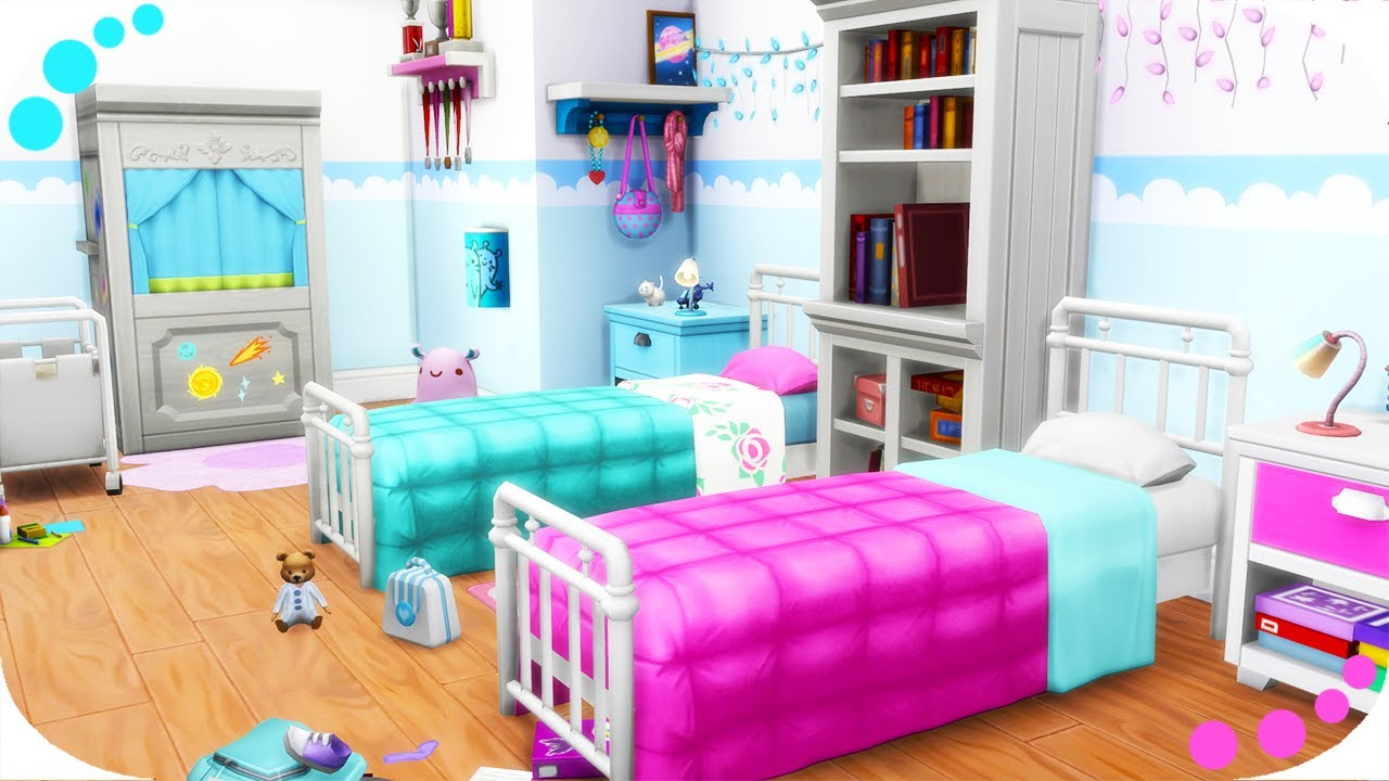 The sims 4 twin girls bedroom parenthood kids room - Stuff for girls rooms ...