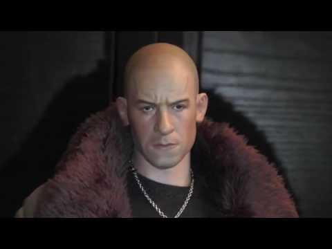 1//6 Scale Vin Diesel Head Sculpt Dominic Toretto The Fate of the Furious Hot Toy