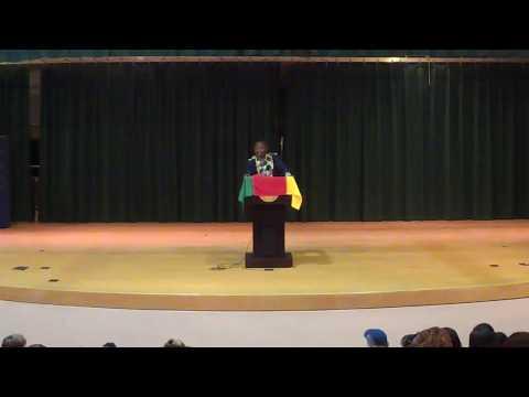 Black History Talk - Mr. Omgba at McCracken Middle
