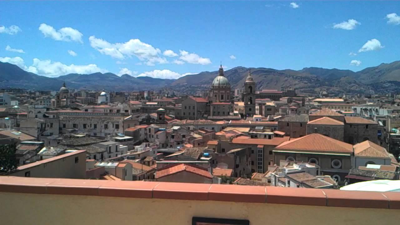 Panorama di Palermo dalla terrazza dell\'albergo Ambasciatori - YouTube