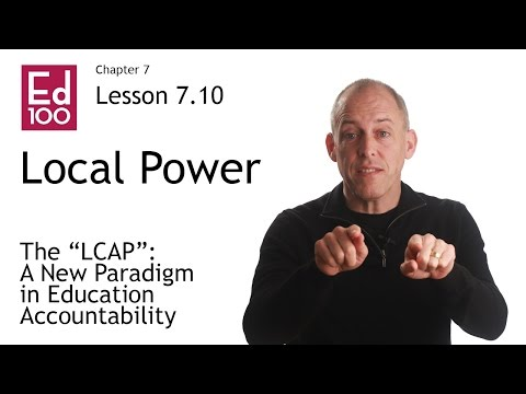 7.10 The LCAP, a New Paradigm in California Education