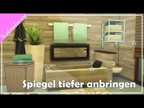 kalaidasim tipps ideen spiegel tiefer anbringen die sims 4 youtube. Black Bedroom Furniture Sets. Home Design Ideas