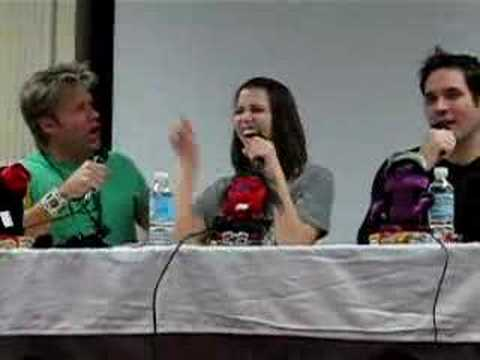 vic mignogna and travis willingham kiss laura bailey youtube