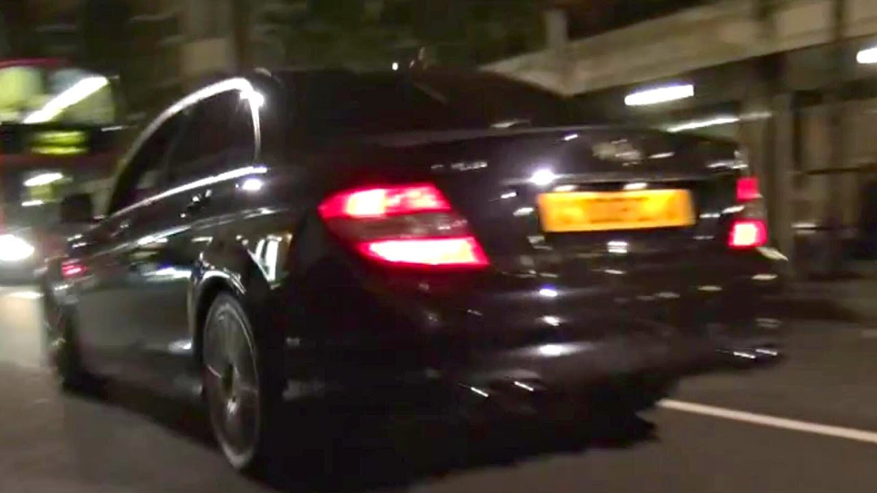 Decatted Mercedes C63 AMG BRUTAL SOUND!!