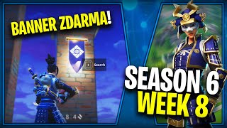 WHERE is the FOURTH FREE BANNER FOR SEASON 6 (Week 8)-Fortnite Battle Royale CZ/SK