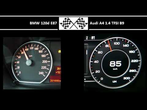 BMW 120d E87 VS. Audi A4 1.4 TFSI B9 - Acceleration 0-100km/h