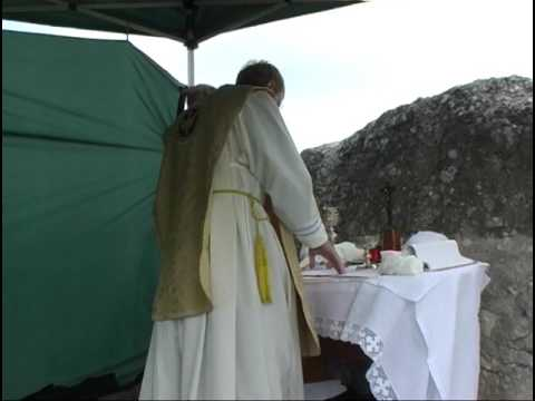 Mass Rock -Traditional Latin Mass during Penal times under British Rule.