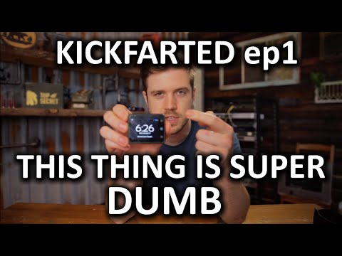 Wrist Mounted Smartphone - A BAD Idea - KICKFARTED ep1