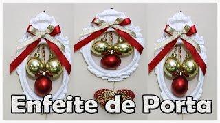 Enfeite de Porta Para o Natal, DIY, Decoração de Natal