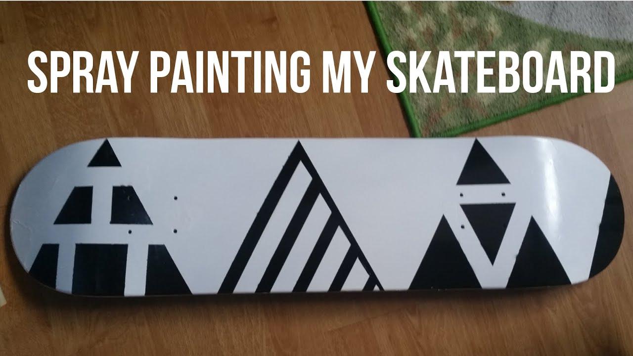 How To Spray Paint A Skateboard Youtube