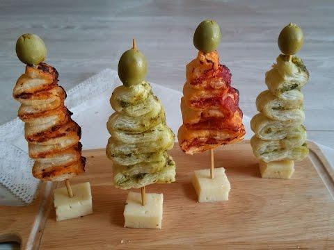 Antipasti Di Natale Alberelli.Alberelli Di Pasta Sfoglia Pronti In Soli 5 Minuti Il Finger Food Natalizio Youtube