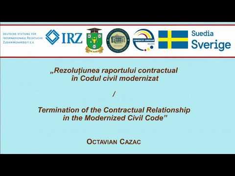 Dr. O. Cazac — Rezolutiunea raportului contractual în Codul civil modernizat