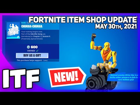 Fortnite Item Shop *NEW* CHUGGA-CHUGGA EMOTE! [May 30th, 2021] (Fortnite Battle Royale)