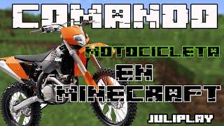 motocicleta en minecraft /Tutorial comando,truco, no mod