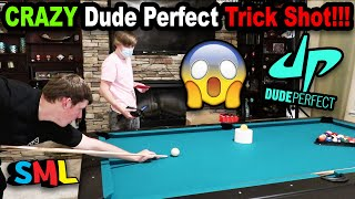 SML Made A Dude Perfect TRICK SHOT!!!