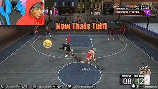 SoLLUMINATI Gets His Ankles Broken While Playing NBA 2K19 😂