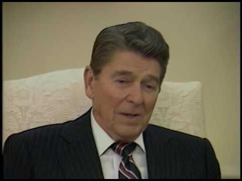 President Reagan - Oval Office Interview - Jan 8, 1985 - Dallas Morning News