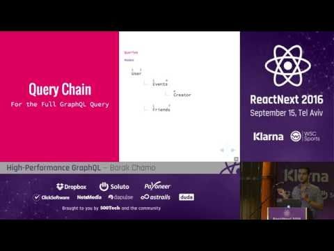 Barak Chamo: High Performance GraphQL — ReactNext 2016