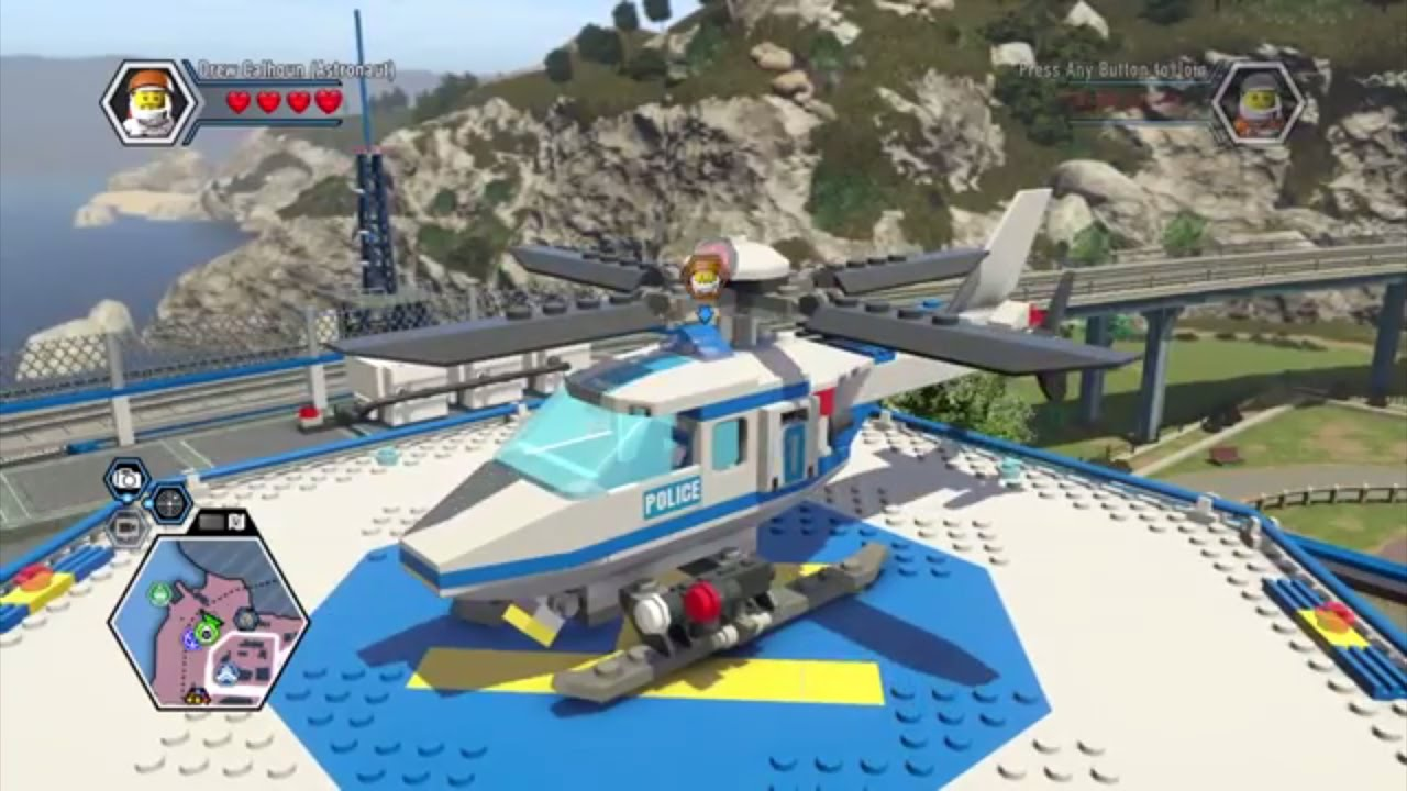 Lego City Undercover Ps4 Responder Helicopter Unlock Guide Youtube