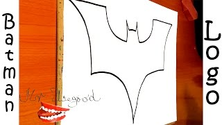 DIY How to draw Batman Logo EASY   Superheroes Logos, draw easy stuff but cool,SPEED ART,#1/2