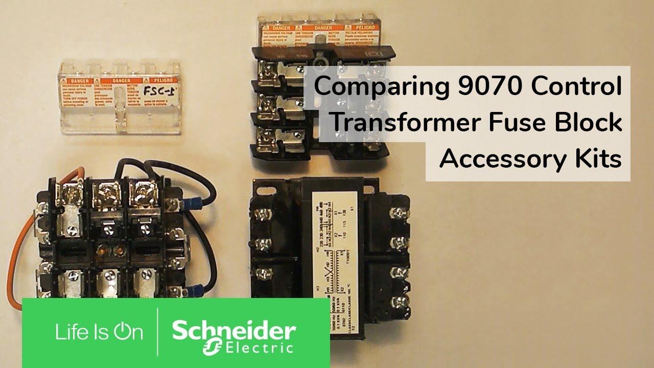 medium resolution of comparing 9070 control transformer fuse block accessory kits schneider electric support