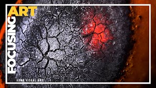 ASMR visual art, burnning oran…