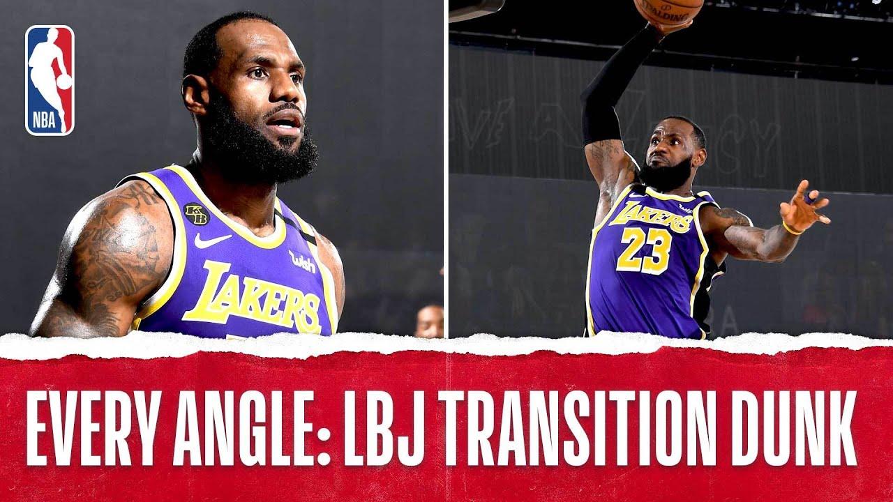 Every Angle: LeBron James Massive Slam‼️ 👑