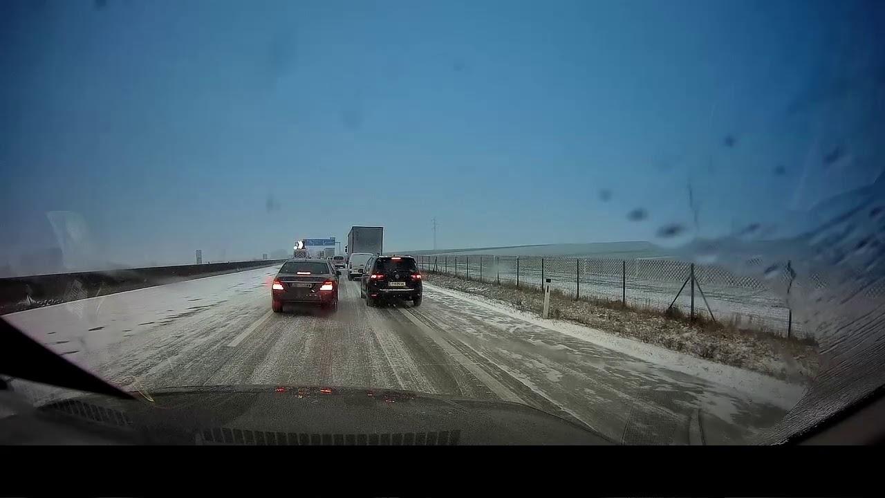Autobahn Glatteis