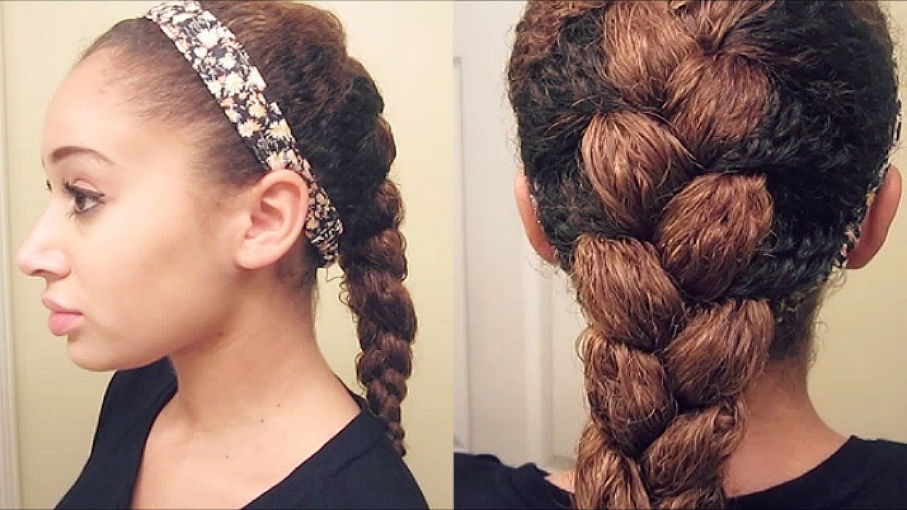 french braid curly hair