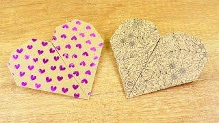 Herz Origami Idee ❤️ Geschenk Idee für Muttertag & Valentinstag | Ganz einfach & schnell