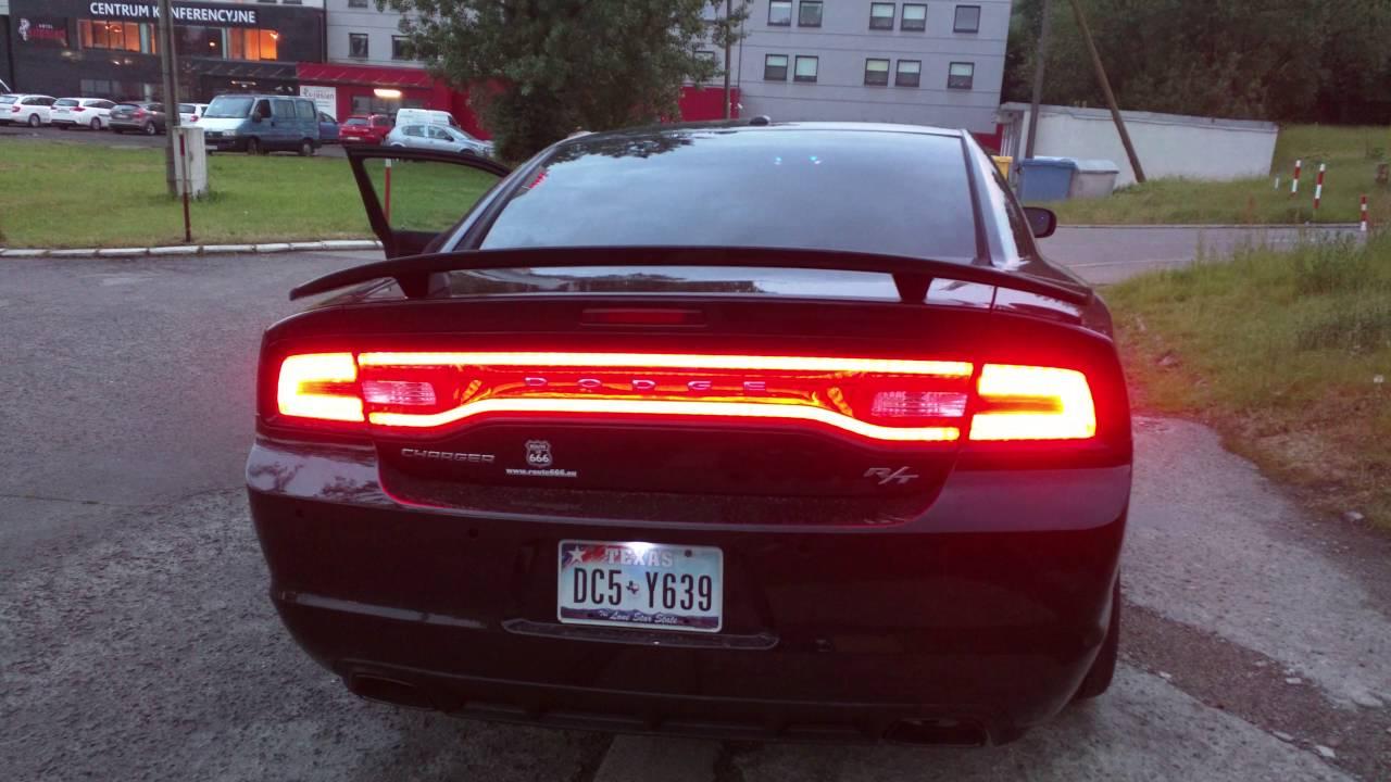 Dodge Charger Tail Lights >> Dodge Charger 2013 Tail Lights Usa Original Youtube