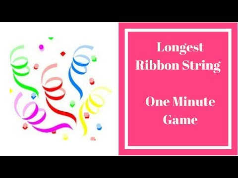 One Minute Kitty Party Game-Longest Ribbon String