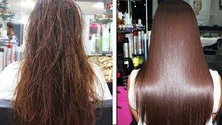 Волосы НАДОЛГО Станут ПРЯМЫМИ и ЗДОРОВЫМИ | ✅ Кератиновое ВЫПРЯМЛЕНИЕ ВОЛОС в Домашних Условиях