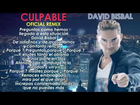 David Bisbal Ft. J Alvarez - Culpable (Remix) [Video Lyric]