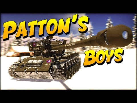 War Thunder PATTONS BOYS Super Pershings (War Thunder Tanks)