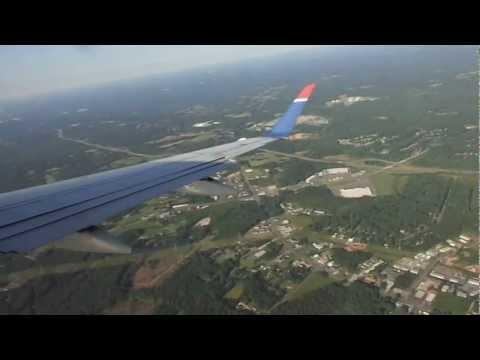 Toronto-to-Charlotte flight: Mississauga, Burlington ON, southbound CLT landing 2012-06-03