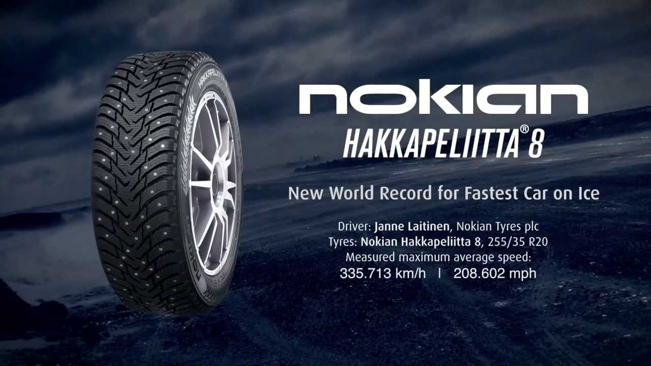 Fastest On Ice With Nokian Hakkapeliitta 8 Grip Like