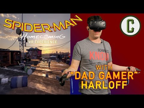 Spider-Man: Homecoming VR Experience  Playthrough with Dad Gamer Kristian Harloff - Collider Video