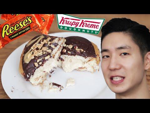 We Tried The New Reese's Krispy Kreme Doughnuts